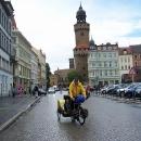 Po dešti ještě provádíme rychlou cykloprohlídku Görlitzu