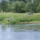 Rybář na polské straně soutoku