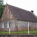 Kostel v Chociwelu s čapím hnízdem