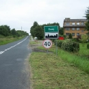 Vesnička Kozy na severu Polska