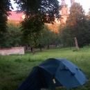Nakonec táboříme u ohromného zámku v Lubiaži