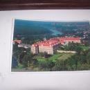 Letecký pohled na zámek v Lubiaži