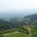Výhled na Srebrnou Goru. Kopec sem nahoru byl opravdu vražedný