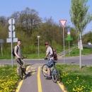 Jirka s Martinem na cyklostezce
