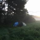 V srpnu jsou už rána chladná, nocleh u Staré Hlíny