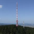 Pohled k vysílači