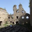 Hradní palác je částečně opravován