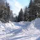 Takto končí harrachovská železnice v haldě sněhu, kdysi se pokračovalo až do Polska