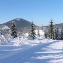 A už si to svištím po polské straně s výhledy do Čech (hora Bukovec)