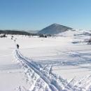 Na pláni u Jizerka s horou Bukovec - v pozadí Krkonoše
