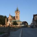 Centrum Humpolce s kostelem sv.Mikuláše