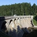Hráz Sedlické přehrady na řece Želivce