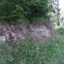 Skrovné zbytky hradu Klosterberg