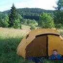 Krásné ráno na hřebeni Rychlebských hor