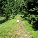 A tak se snad hodinu prokousáváme 3km po této cestičce prudce z kopce, vozík se převrátil, no horor
