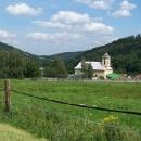 Sjezd do Petrovic, začíná zde říčka Osoblaha a tedy i osoblažský výběžek