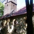 Zřícenina kostela u vsi Pelhřimovy