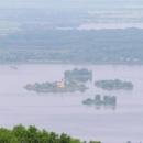 Novomlýnské nádrže pohltily i původní vesnice - z Mušova zbyl jen kostel na ostrůvku