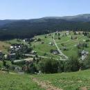 Panorama Pece je od chaty Orlík úžasné