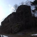 Mohutné zdi hradu Frymburku