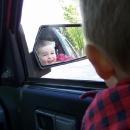 Čekáme v autě na Luďka, který šel na prohlídku hradu po mně a Víťa blbne :-)