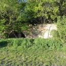 Dálniční propustek zarostlý křovím