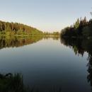 Nocleh u vodní nádrže Smolná - večer