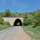 Zajímavý most u Sudic - nad ním jenom pole