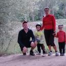 Rodinné foto na soutoku - cíl výpravy dobyt!