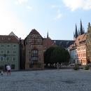 Chebské náměstí se známým Špalíčkem