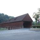 Krytý dřevěný most v Radošově