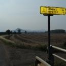 Litoměřice 24 kilometrů - poprvé vidíme náš cíl.
