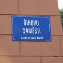 V Budyni nad Ohří má náš kamarád a vydavatel našich knížek náměstí :-)