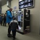 V Ústí jsme přepadli automat na kafe a horkou čokoládu a promrzlí čekáme na vlak domů.