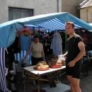 Na trhu v Mižhirji kupujeme pečivo