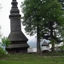 Dřevěný kostelík v Koločavě (akorát bimbali poledne)