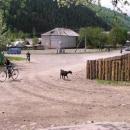 Hlavní křižovatka v Koločavě