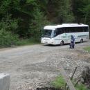 Zdravíme se s českým autobusem, který míří dál na východ Podkarpatské Rusi