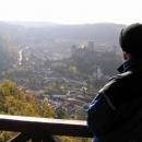 ... a hrad Hardegg v nejmenším rakouském městě.
