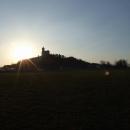 Kunětická hora v západu slunce