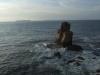 Výhled na Atlantik a útesy z Cabo Carvoeiro