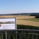 Výhled z rozhledny Rosička na Českomoravskou vysočinu.