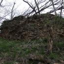 Zbytky hradeb Kácovské tvrze