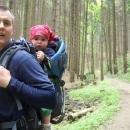 Luděk s Víťou v Jiskrově údolí (to už sestupujeme do Brandýsa nad Orlicí)