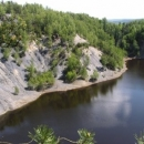 Hromnické jezírko - bývalá těžba břidlice na výrobu kyseliny sírové