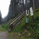 Až na samotný vrchol Boubína bychom se na kolech nedostali