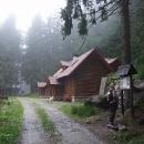 Nová lovecká chata u bývalého zámečku na Boubíně