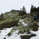 Pod Ztracenými kameny (cca 1250 m) už trochu propadám panice a vidím se v duchu, jak neseme běžky trapně celou cestu v ruce.