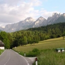 Hora Mangart na hranici Itálie a Slovinska