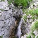 Izvir Soče - pramen slavné vodácké řeky přímo ze skály